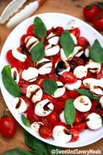 Image of caprese salad.