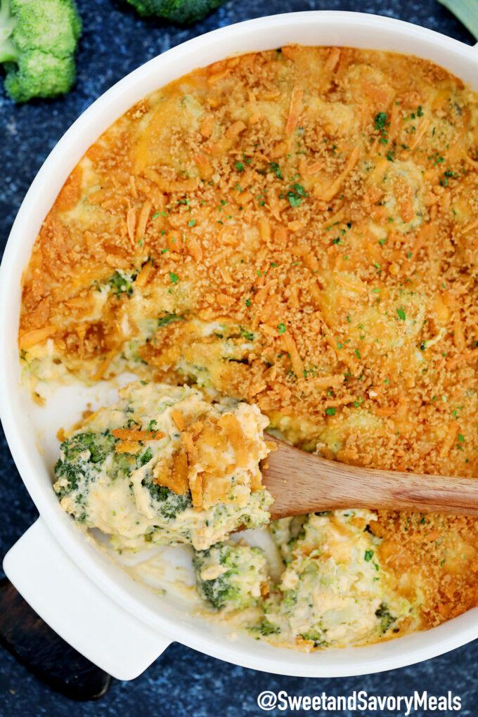 Image of broccoli casserole.
