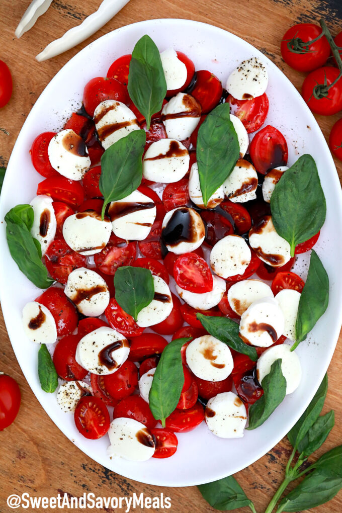 Picture of caprese salad.