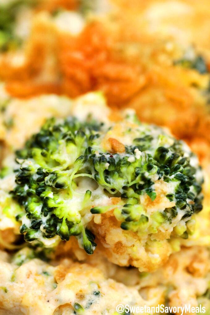 Photo of broccoli casserole recipe.
