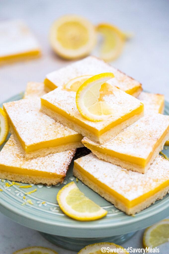 Image of creamy lemon bars.