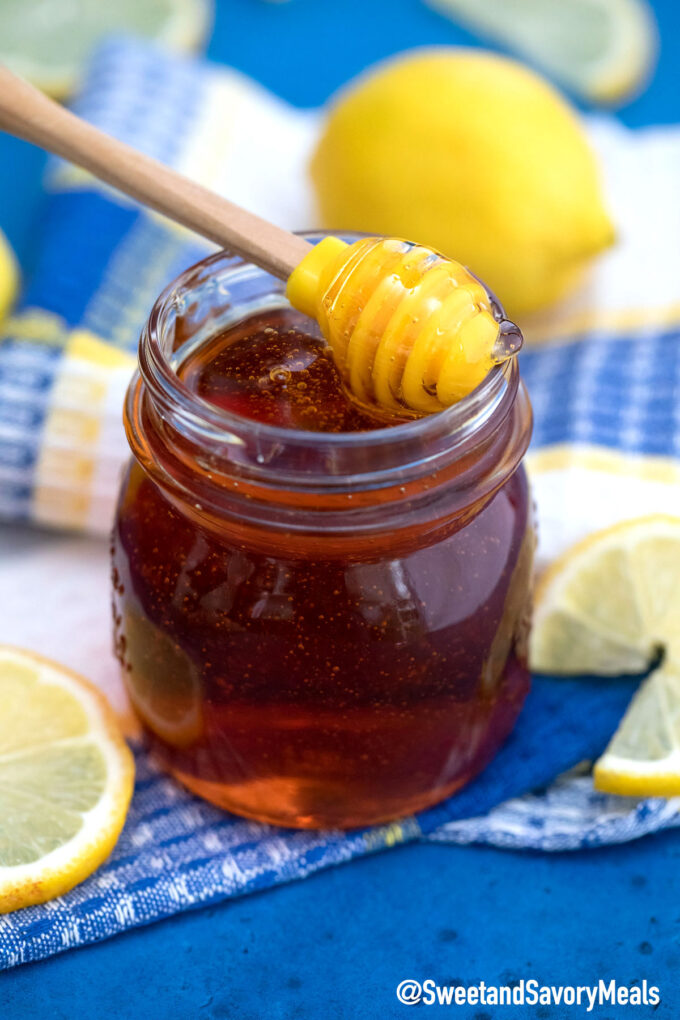 Image of homemade golden syrup.