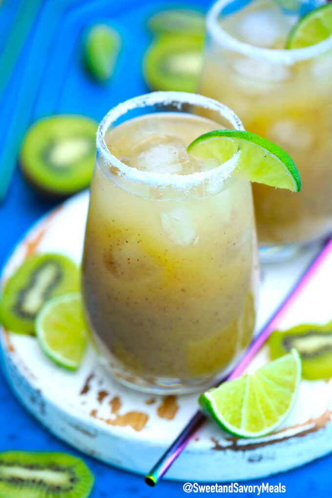 Photo of kiwi margarita recipe.