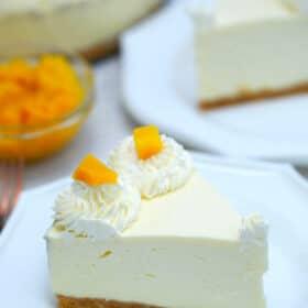 No Bake Mango Cheesecake