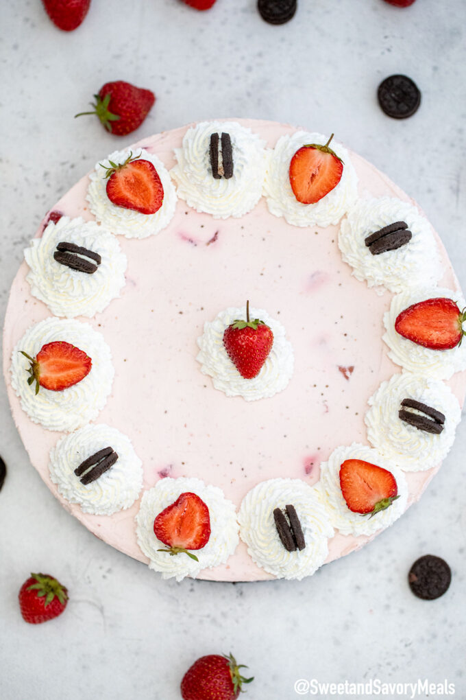 Image of strawberry cheesecake.