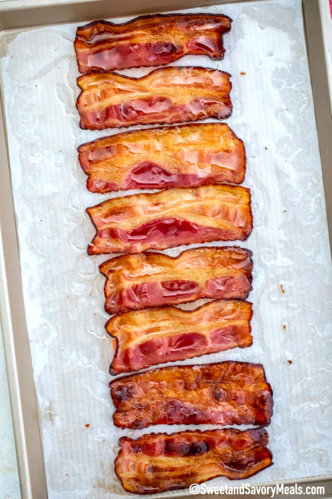 Image of oven baked bacon.