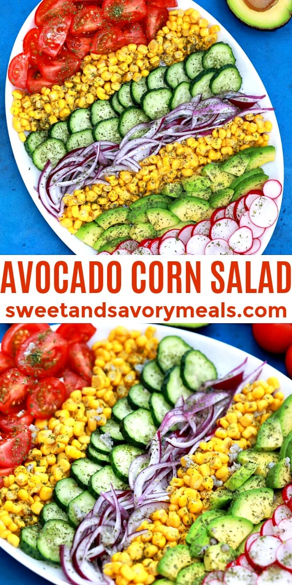 Easy Avocado Corn Salad pin