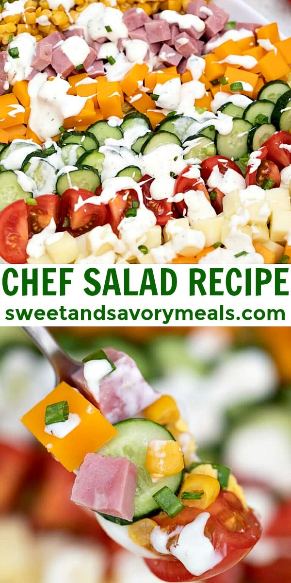 Easy Chef Salad Recipe pin