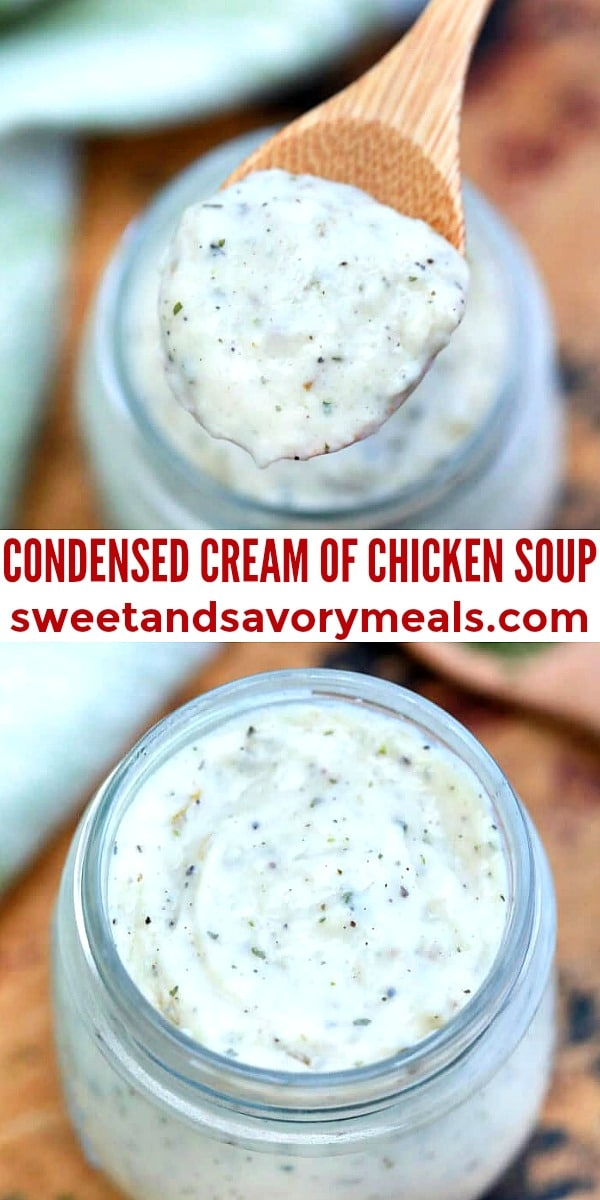 Easy Condensed Cream of Chicken Soup pin