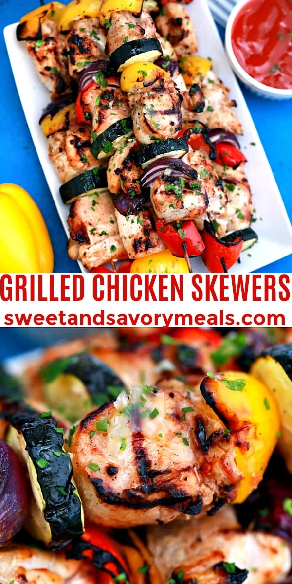 Easy Grilled Chicken Skewers pin