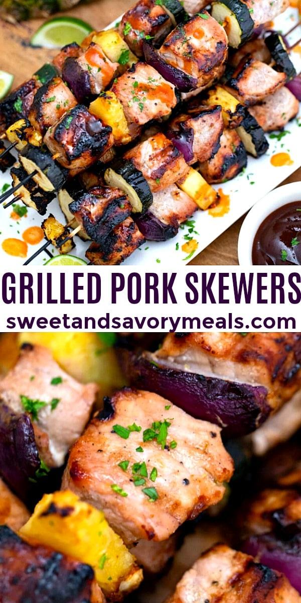 Photo of Grilled Pork Skewers pin