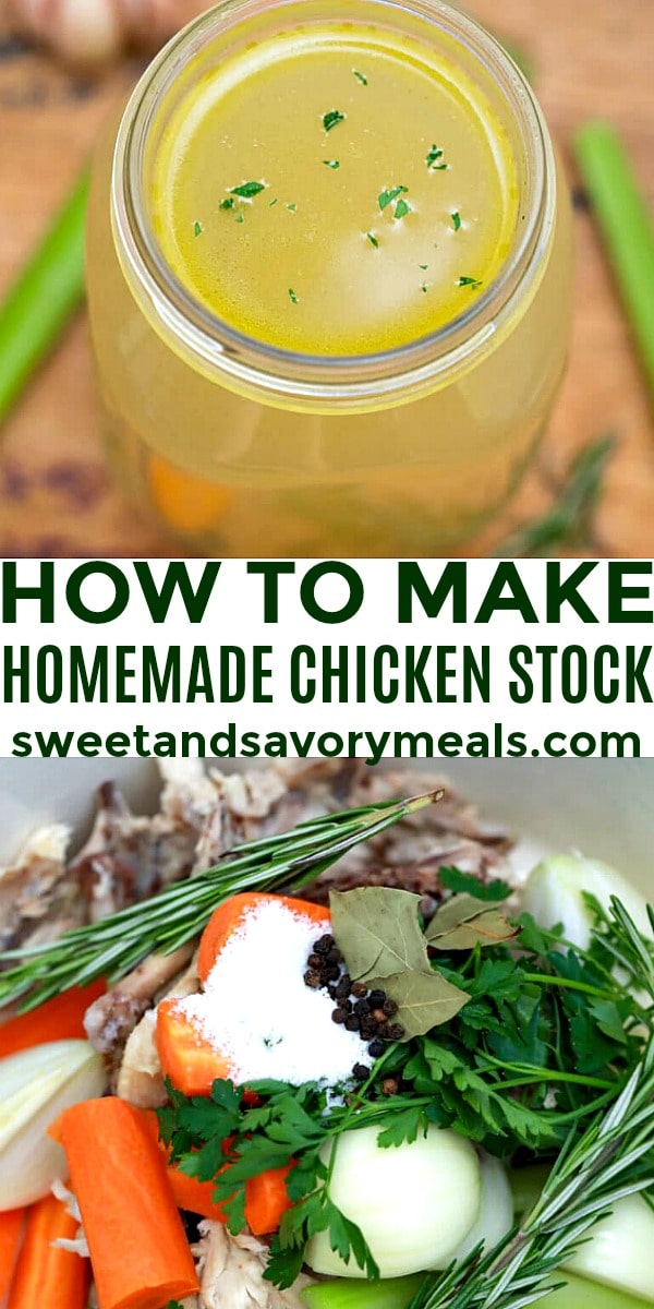 how to make easy chicken stock pin