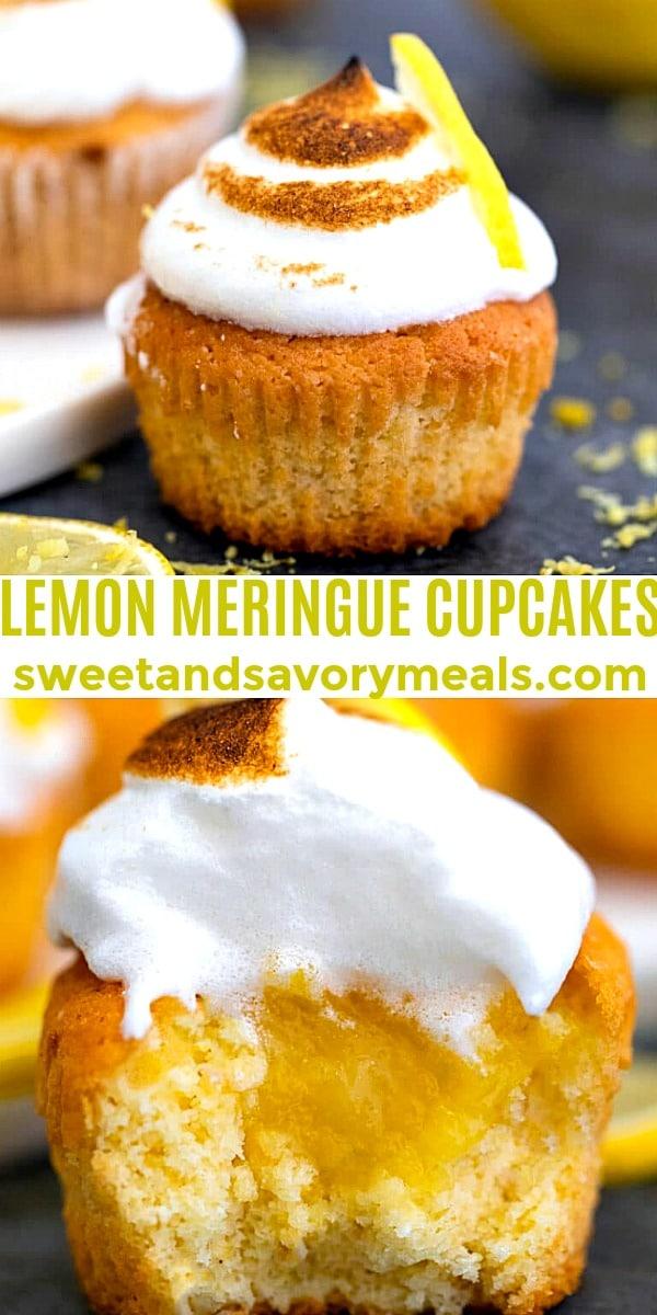 Easy Lemon Meringue Cupcakes pin