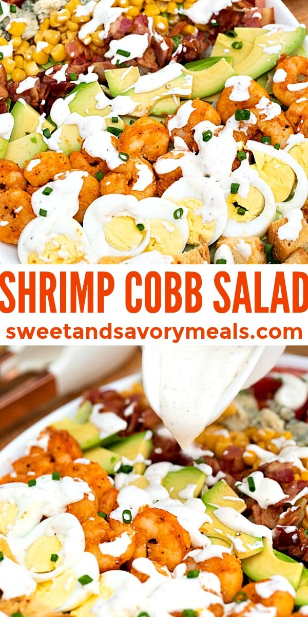 Easy Shrimp Cobb Salad pin