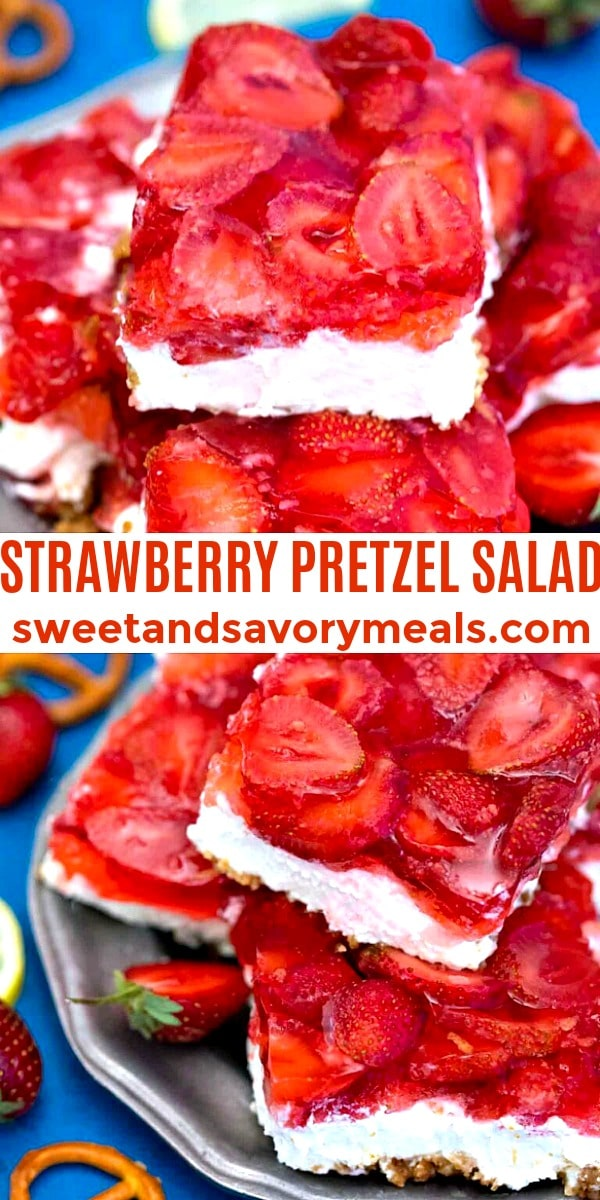 Easy Strawberry Pretzel Salad pin