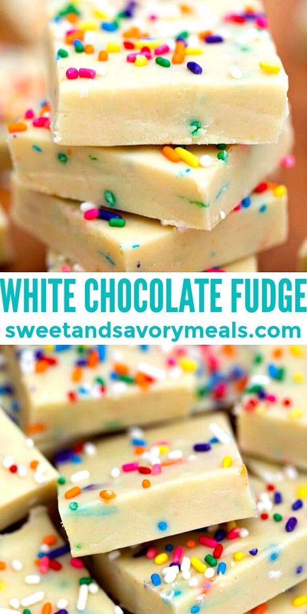 Easy White Chocolate Fudge pin