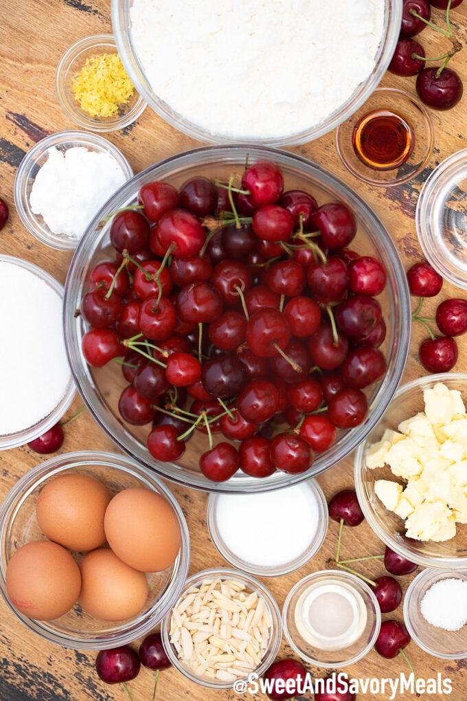 Cherry bars ingredients.