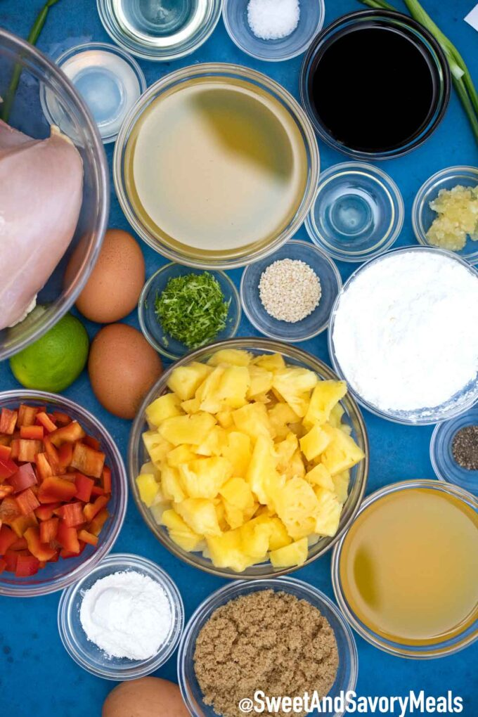 Hawaiian Chicken ingredients.