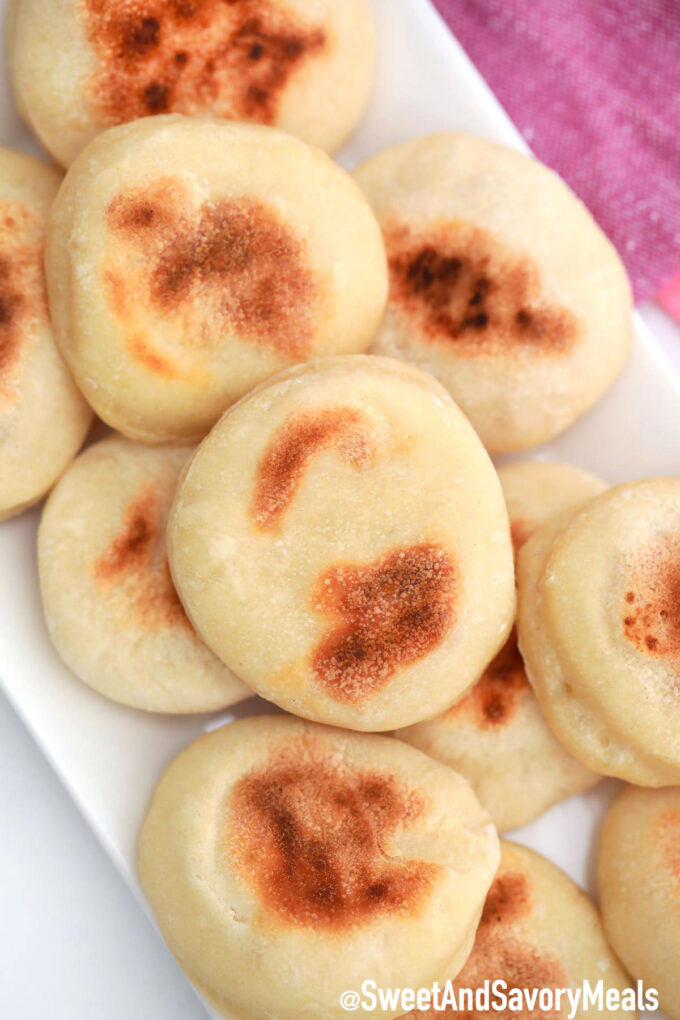 Tray of English Muffins.