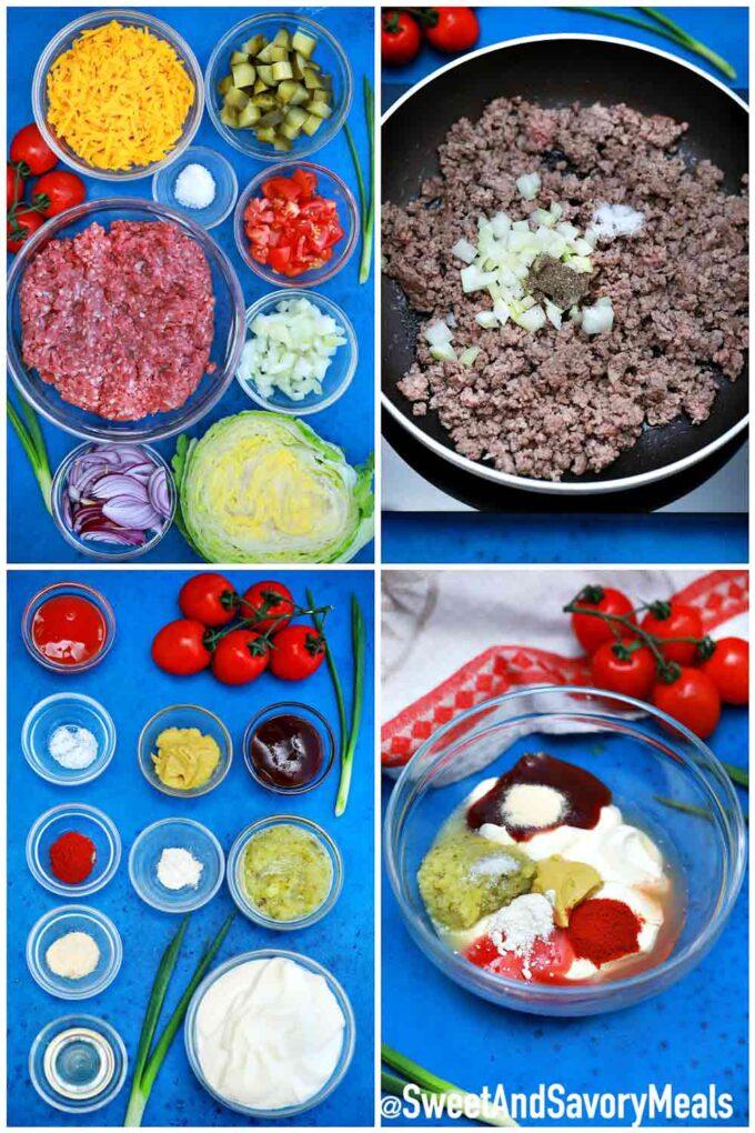 How to make Big Mac Salad.