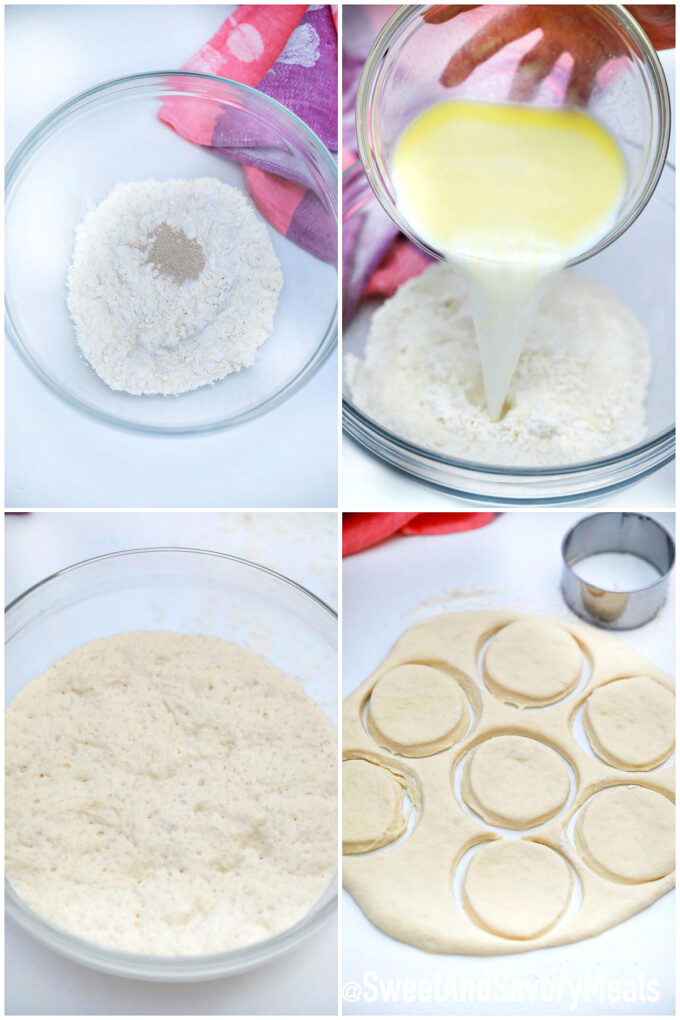 Steps how to make English Muffins.