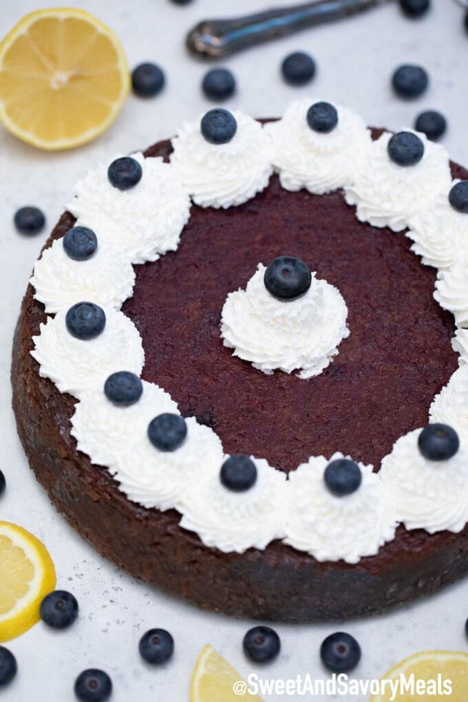 Image of Keto blueberry cheesecake recipe.