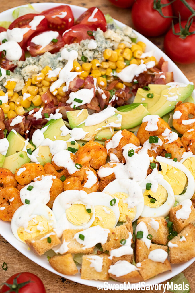 Shrimp Cobb Salad.