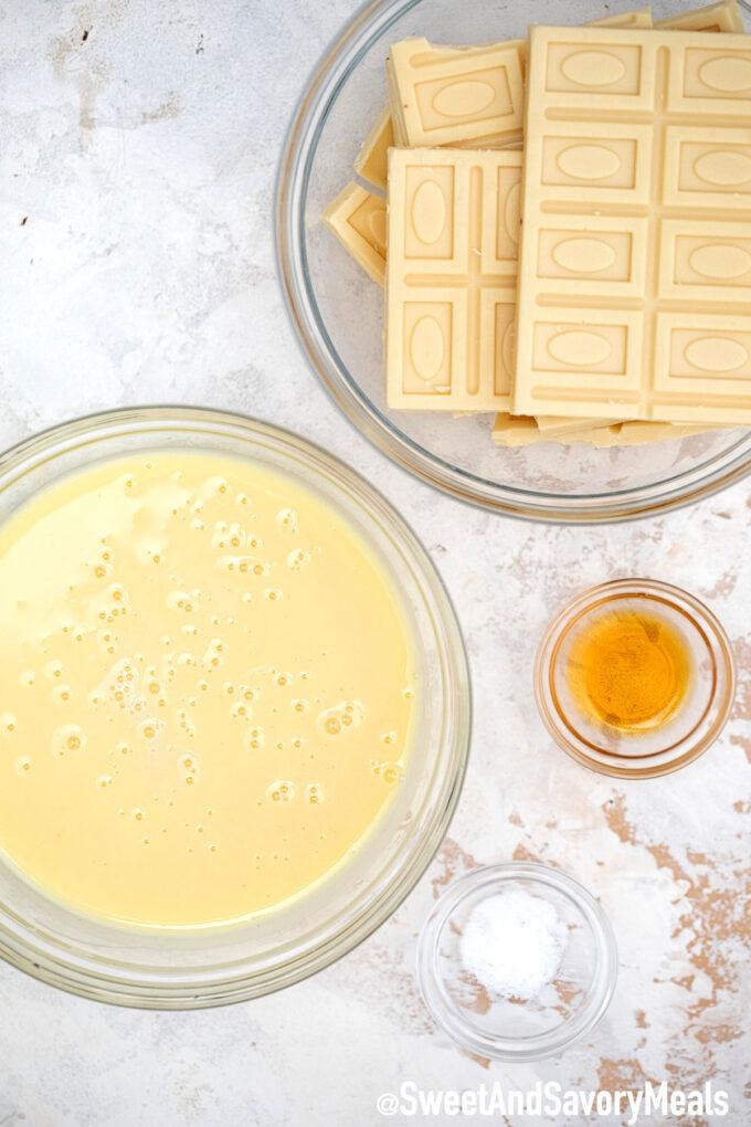 White chocolate fudge ingredients