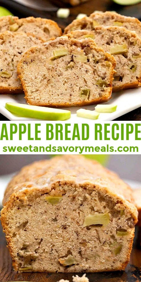 Easy Apple Bread Recipe pin