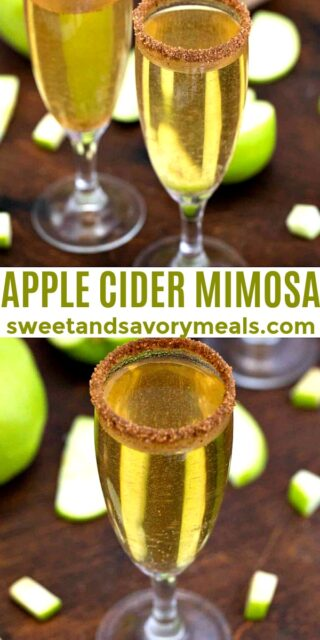 Easy Apple Cider Mimosa pin