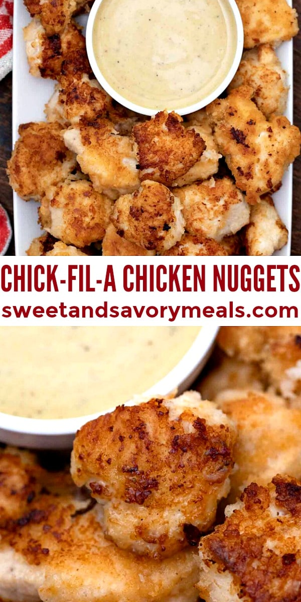 Easy Chick-A-Fil Chicken Nuggets pin