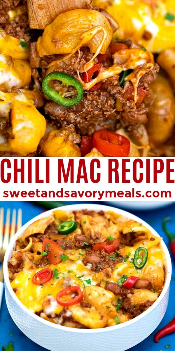 Easy Chili Mac Recipe pin