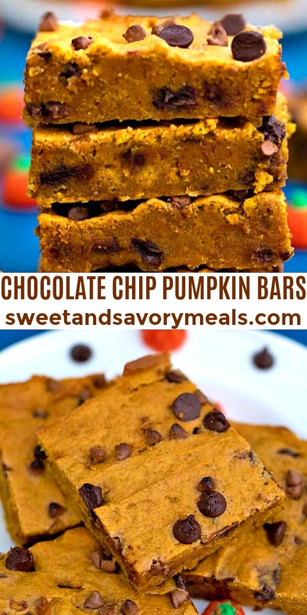 Easy Chocolate Chip Pumpkin Bars pin