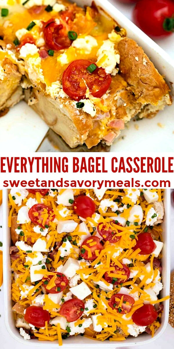 Easy Everything Bagel Casserole pin