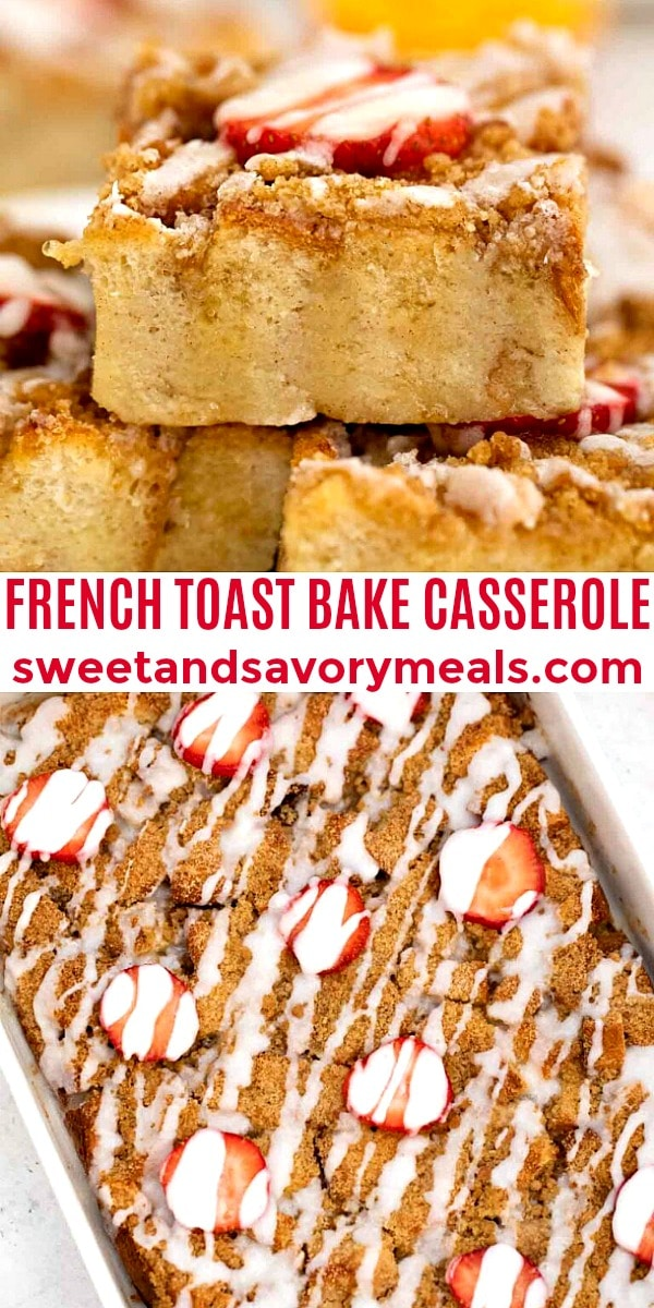 Easy French Toast Bake Casserole pin