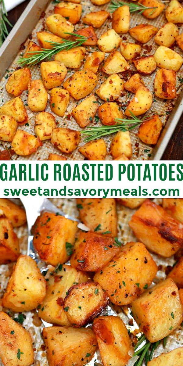 Easy Garlic Roasted Potatoes pin