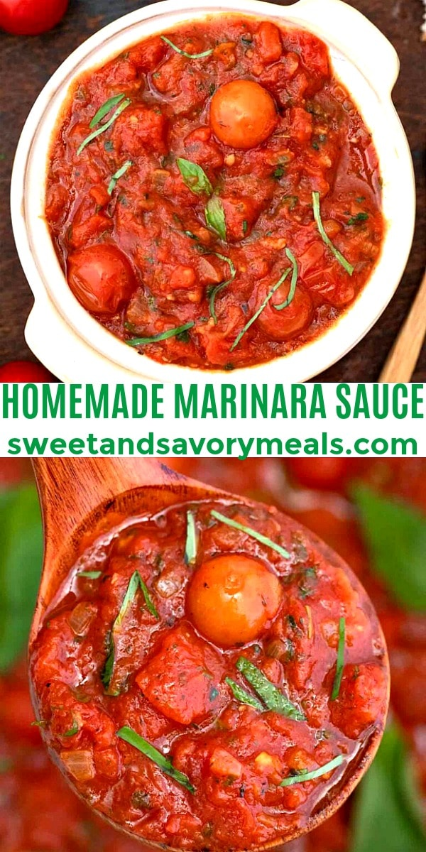 Easy Homemade Marinara Sauce pin