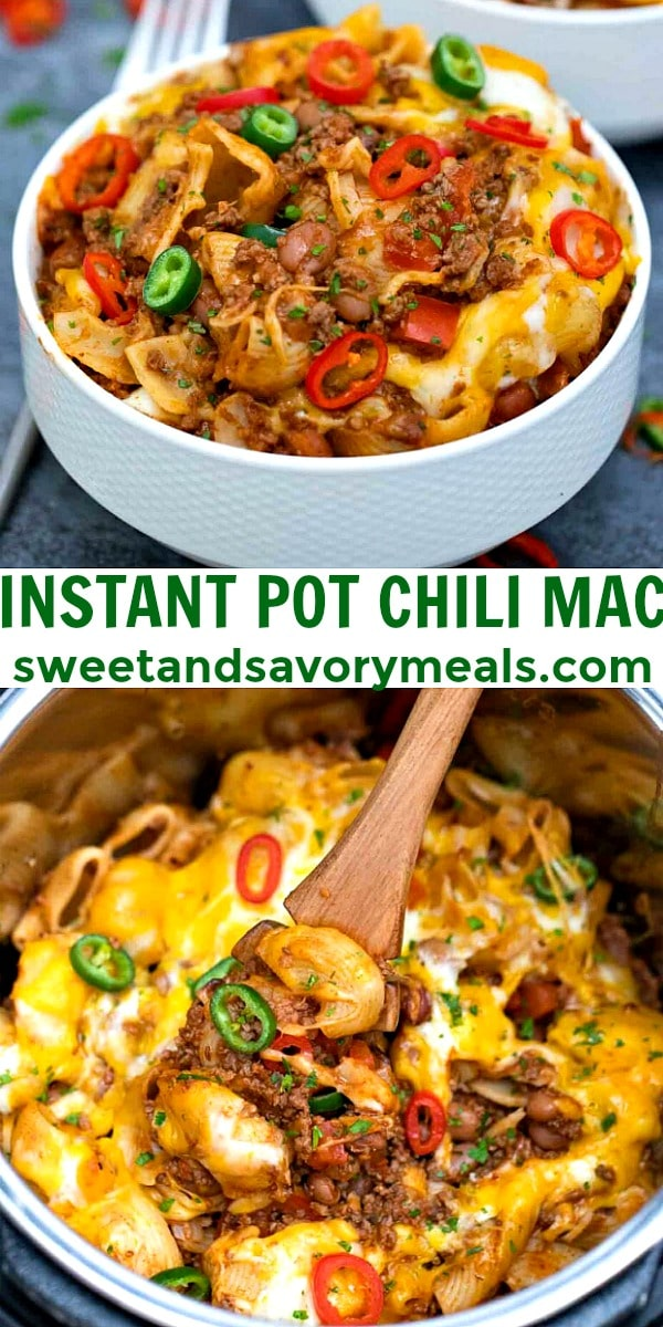 Easy Instant Pot Chili Mac pin
