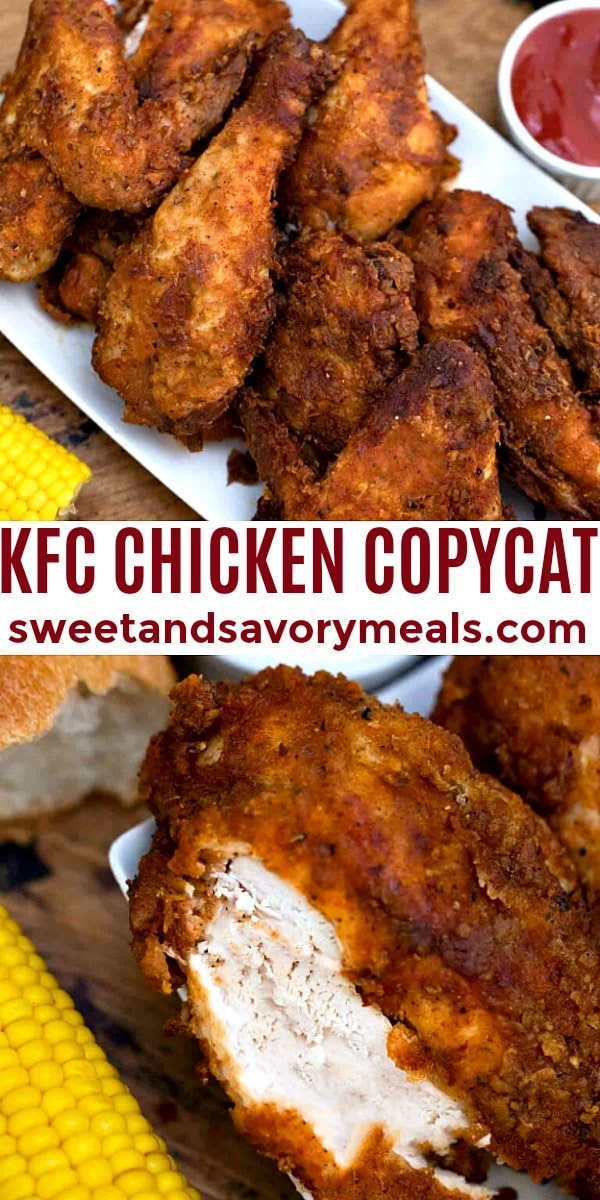 Easy KFC Chicken Copycat pin