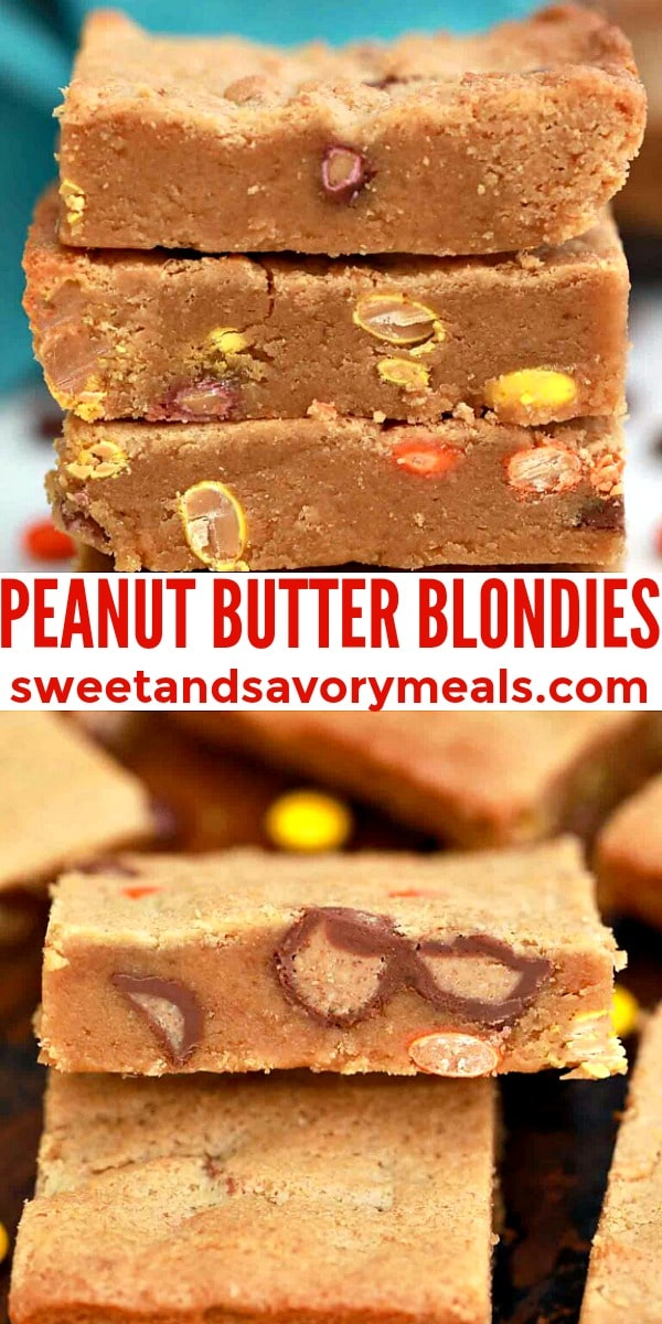 Easy Peanut Butter Blondies pin