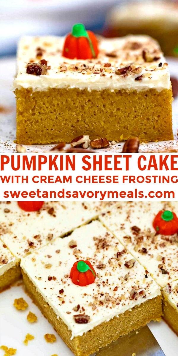 Easy Pumpkin Sheet Cake pin