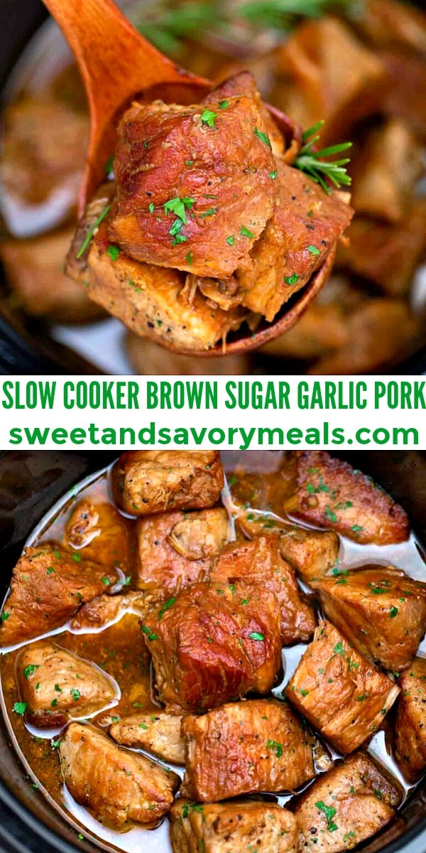 Easy Slow Cooker Brown Sugar Garlic Pork pin