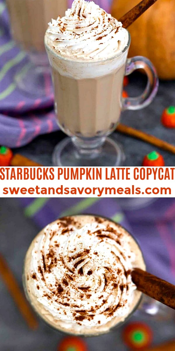 Easy Starbucks Pumpkin Latte pin