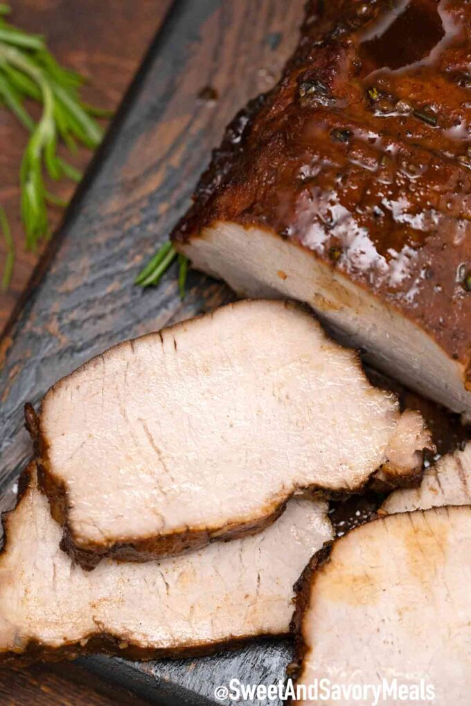 sliced balsamic pork loin