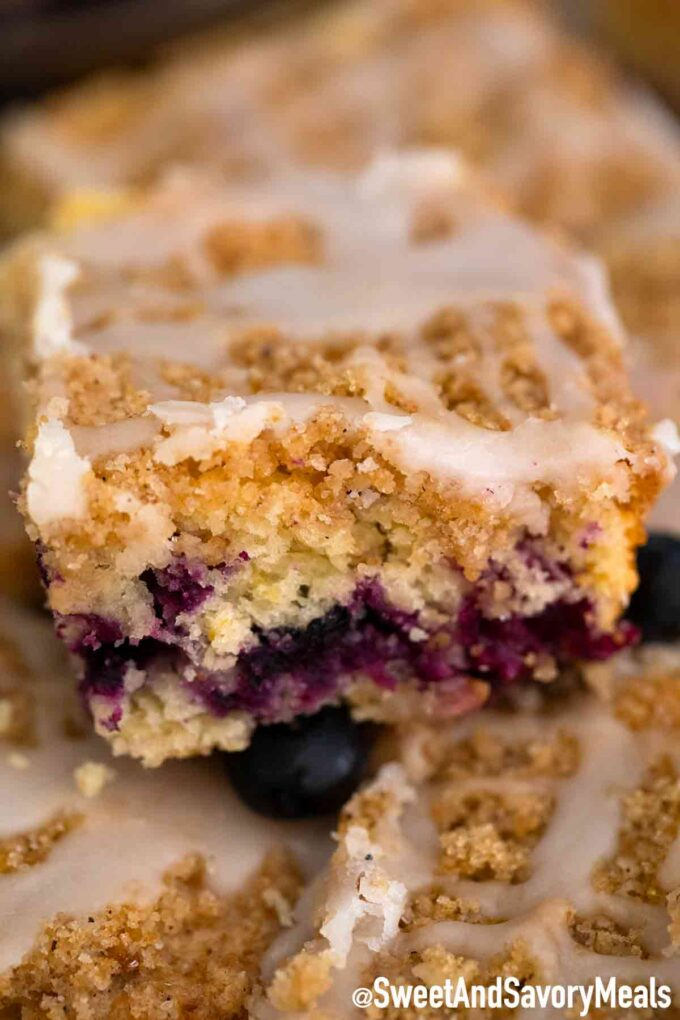 Blueberry buckles bars.
