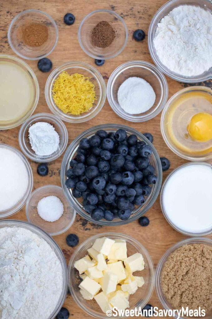 Blueberry buckle ingredients.