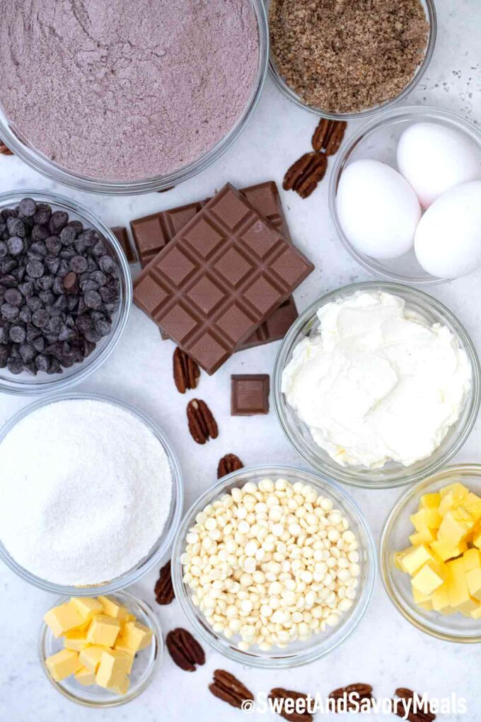 Earthquake Cake ingredients.