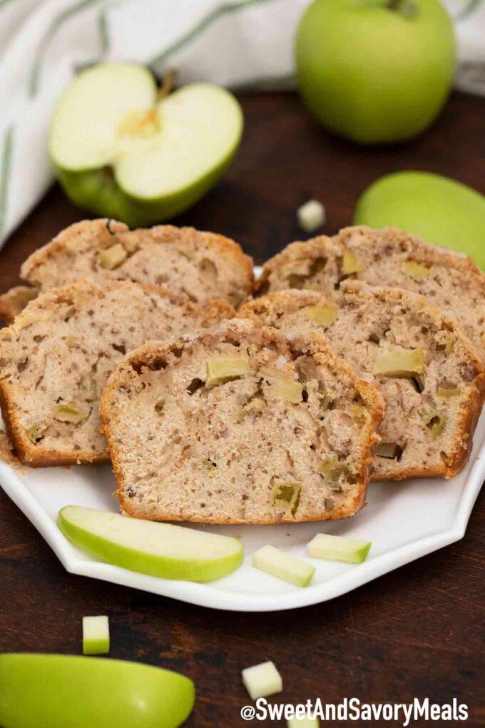Apple bread slices