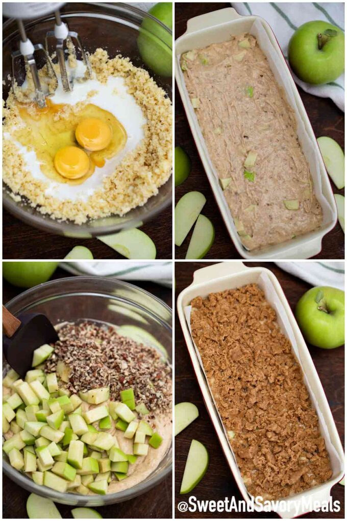 Steps how to make apple bread