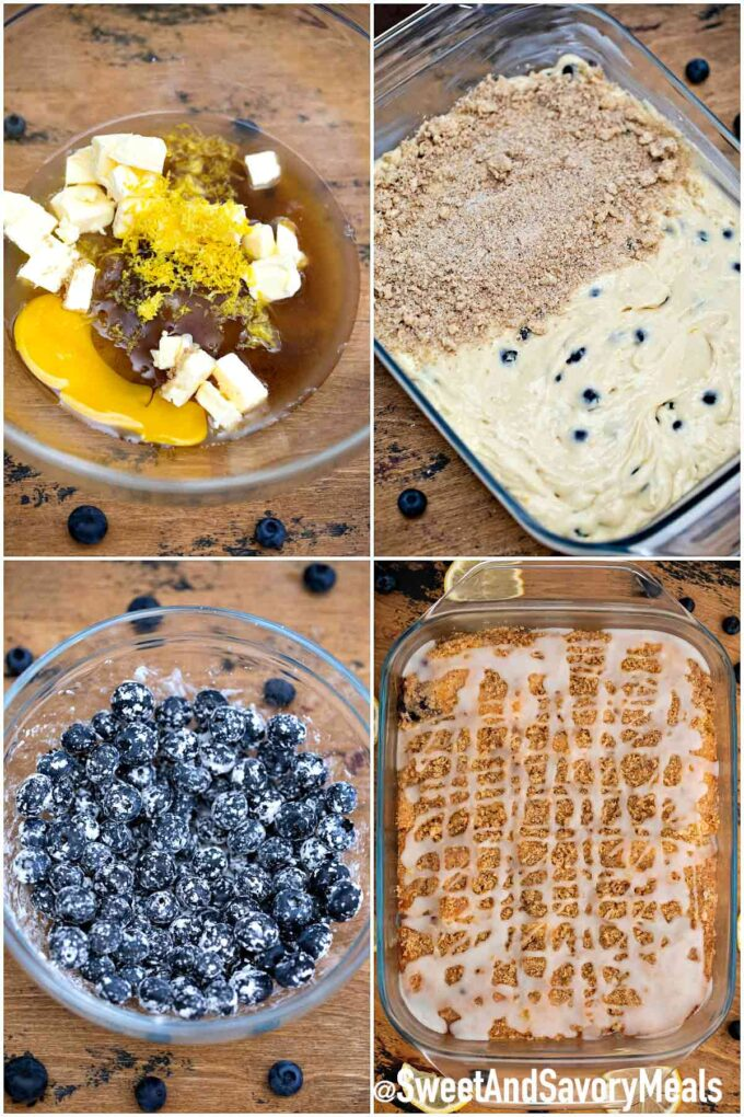 How to make Blueberry buckle.